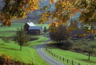 Autum farm scene near Woodstock Vermont. USA.