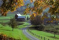 Autum farm scene near Woodstock Vermont. USA.