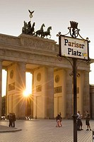 Brandenburg Gate in Pariser Platz, Berlin. Germany