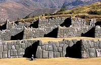Inca fortress of Sacsayhuaman. Cuzco, Peru