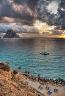 Sunset. Cala D´Hort, Ibiza. Spain.