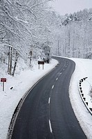 Foothills Parkway, Snowy Landscape, East Tennessee, USA