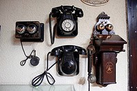 Different telephone models for railroad use.