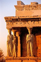 Caryatids of the Erechtheion. Acropolis, Athens. Greece