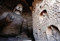 Sakyamuni Buddha in the Yungang Grottoes. Shanxi, China