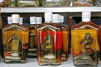 Thailand, Snake whisky, bottles, alcohol, snakes, souvenir,