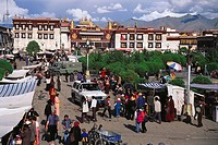 Jokhang temple square, Lhasa. Tibet, China