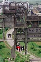 Tangyue memorial arches. Shexian county, Anhui, China