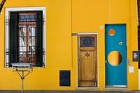 Frente de una casa del barrio de Palermo, Buenos Aires, Argentina