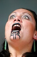 Maori dancer, New Zealand