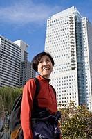 Woman in downtown San Francisco. California, USA