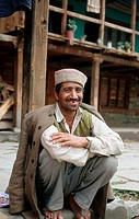 Man in traditional costume, Chijogui. Himachal Pradesh, India