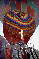 Hot-air balloon at Göreme valley. Cappadocia, Turkey