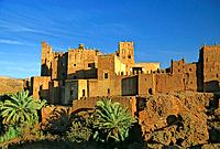 Morocco, Near Quarzazate, Glaoui Kasbah at Tamdaght