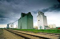 Grain elevators.Trochu, Alberta, Canada