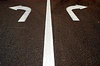 Marking on the road