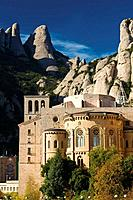 Montserrat benedictine abbey. Bages, Barcelona province, Catalonia, Spain