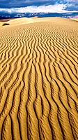 Stovepipe Wells Sand Dunes. Death Valley National Park. California. USA