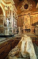 The ´Cristo Velato´ (Veiled Christ), by Giuseppe Sanmartino. San Severo Chapel. Naples. Italy