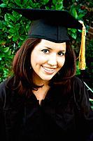 Portrait of Hispanic College Graduate