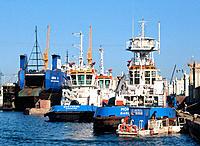 Tugboats, port of Barcelona. Spain