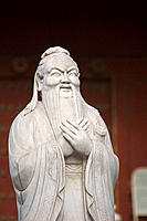 Statue of Confucius at the Confucian Temple. Beijing. China