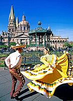 Guadalajara City. Dancers. Mexico.