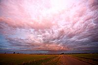Rain storm early morning over Corack, Wimmera district Victoria, Australia