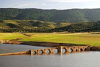 Medieval bridge of the ´Mesta´ (medieval association of sheep holders), Villarta de los Montes. Badajoz province, Extremadura, Spain