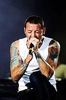 Venice 20/06/08. Parco S. Giuliano. Heineken Jammin´ Festival: Chester Bennington (Linkin Park)