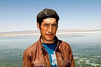 A friendly Kazakh man