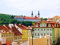 View of Strahov Monastery from The Castle, Prague. Czech Republic