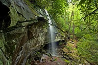 Slick Rock Falls, Pisgah National Forest, Western NC, USA