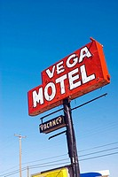 USA Texas Route 66 Vega Motel Sign