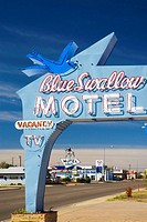 USA  New Mexico  Route 66  Tucumcari  Blue Swallow Motel Route 66 landmark