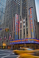 USA New York City Manhattan 6th Avenue and West 50th Street Radio City Music Hall
