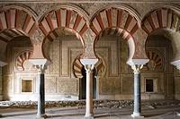 Ambassadors´ Hall of palace built by caliph Abd al-Rahman III, ruins of Medina Azahara. Cordoba province, Andalucia, Spain Cordoba province, Andalucia...