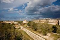 Pre-Columbian mayan ruins of Uxmal. Yucatan, Mexico