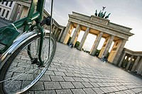 Visiting Brandenburg Gate biking, Berlin, Germany