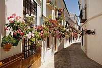 Street in the Villa district, Priego de Cordoba. Cordoba province, Andalucia, Spain