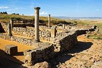 House, ruins of the town of Numancia (Numantia), Roman section. Near Garray, Soria province, Castile-Leon, Spain