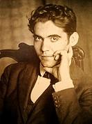 Fuente Vaqueros (Granada). España. Fotografía a principios del siglo XX del poeta y dramaturgo Federico García Lorca.