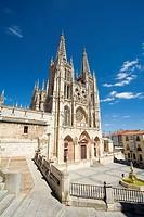 Main facade of the gothic cathedral (13th century). Santa María Square. Burgos. Castilla-León. Spain