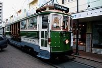 Tram in Christchurch, Canterbury, East Coast, South Island, New Zealand