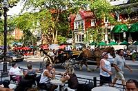 Grande Allee boulevard, Quebec City. Quebec, Canada