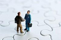 Handshake on puzzle miniature