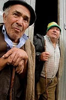 men in a village in northern Galicia