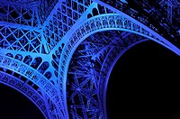 June 30, 2008. France marks the start of its six-month presidency of the European Union by lighting up the Eiffel Tower in blue with yellow stars, rec...