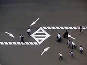 Pedestrians  Osaka  Japan