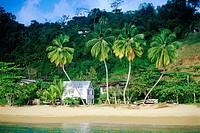 Beach hut, Parlatuvier, Trinidad and Tobago